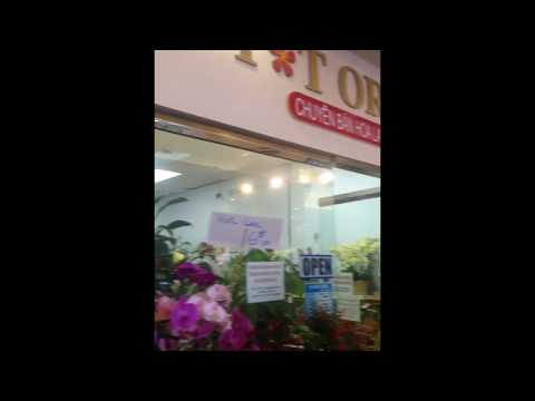 Flower shop in an Asian plaza