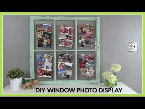 DIY How To : Window Photo Display