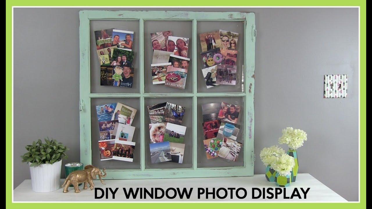 DIY How To : Window Photo Display - YouTube
