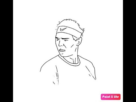 How To Draw Rafael Nadal Face Pencil Drawing Step By Step Youtube