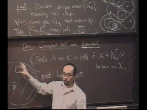 Real Analysis Lecture 11 Compact Sets Youtube