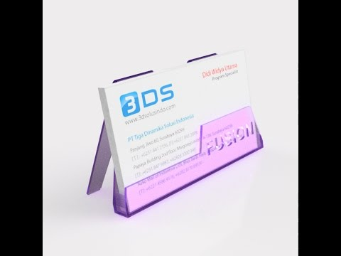 Fusion 360 Tutorial- Business Card Holder