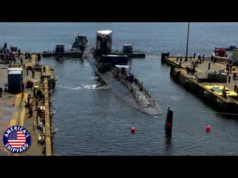 NNSY USS Albany Undocking - April 25, 2017