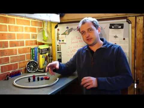 Turbo Mini TV - Kwik-E-Build - Braided stainless Oil feed tube (AN-8 Aeroquip)