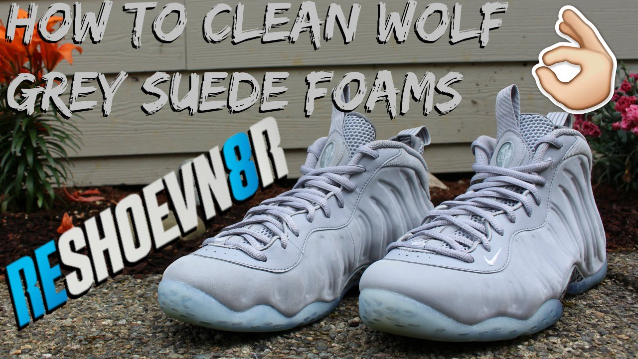9556fb67fa80f How To Clean Wolf Grey Foamposites!  Reshoevn8r - YouTube