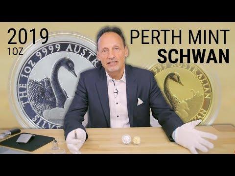 1 Unze Perth Mint Schwan 2019 - Gold Und Silber