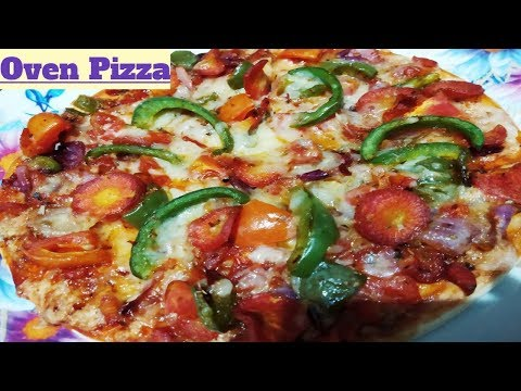 Cheesy Veg Pizza In Microwave/Oven // Restaurant Style Pizza At Home In Oven.