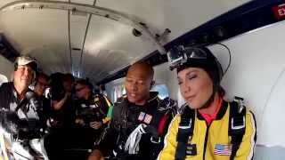 Ginger Zee from GMA jumps with the Golden Knights