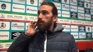 Andrea Gasbarroni tra i migliori in campo in Giana Feralpisalò 1-1