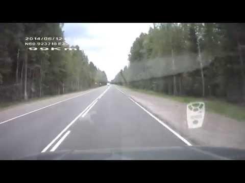 Дорога Сортавала -- развязка Васкелово-Стеклянный-Санкт Петербург часть№3 июнь 2014