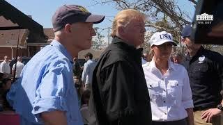 President Trump and Governor Scott Visit the FEMA Aid Distribution Center