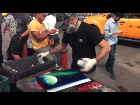 Spray Paint Street Art – Times Square, New York City