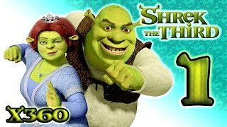 Shrek The Third Walkthrough Part 1 (Xbox 360) Intro + The Docks