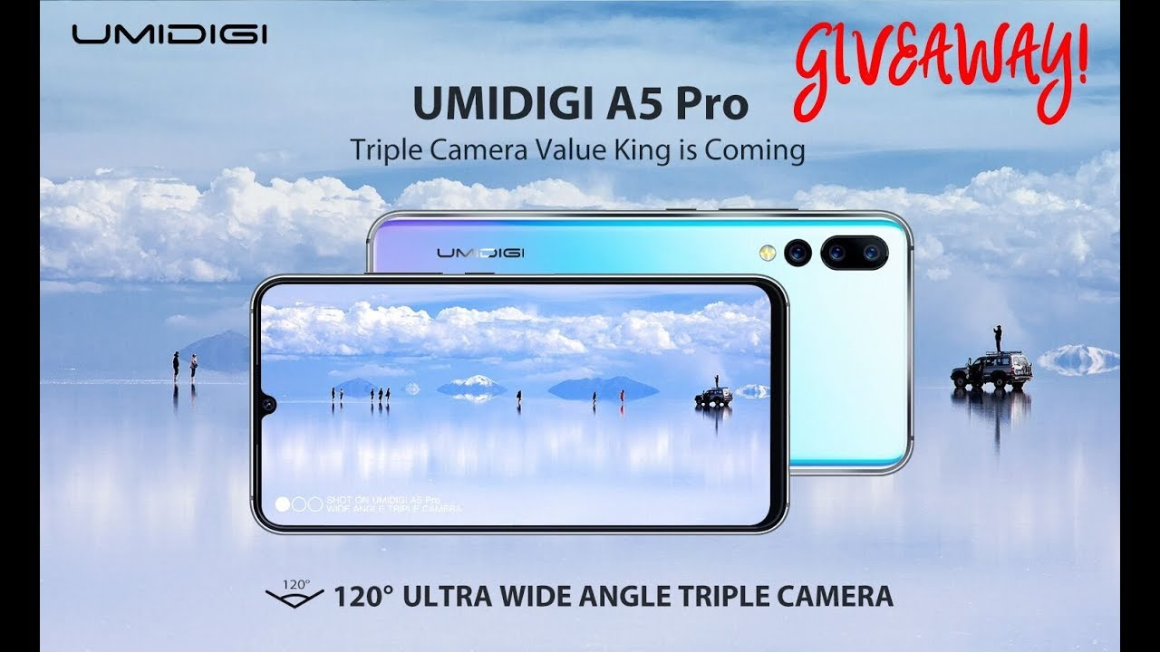 UMIDIGI A5 PRO | TRIPLE Ultra-Wide Angle Lens | Introduction & GIVEAWAY