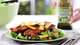Blackened Fish Taco Salad Made With Filippo Berio Organic Extra Virgin Olive Oil
