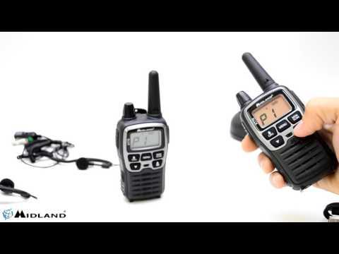 Statie radio PMRLPD portabila Midland XT70 set cu 2 buc. gri metalic cod C1180