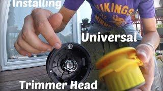 Installing Universal Trimmer Head - Rino Tuff Pivotrim AutoWinder