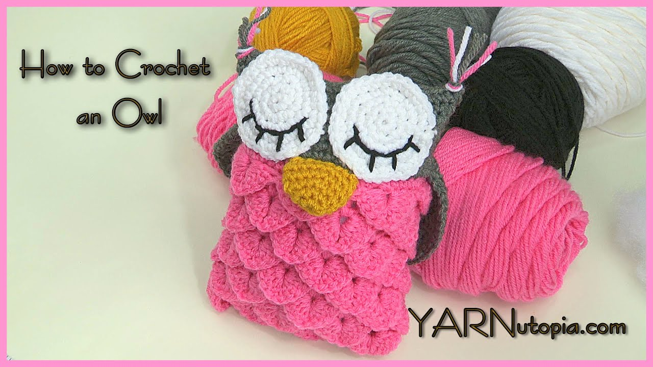How to crochet an owl using the crocodile stitch youtube bankloansurffo Choice Image