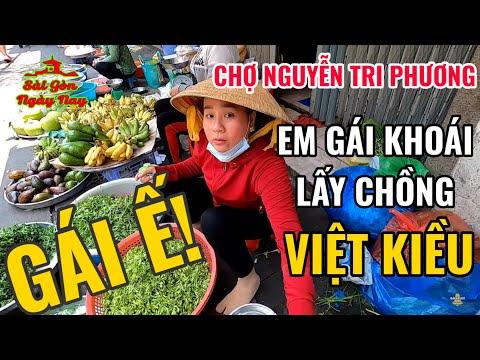 gửi hàng đi canada - Đi chợ Nguyễn Tri Phương mua đồ gởi đi Canada gặp GÁI Ế khoái cưới chồng Việt Kiều