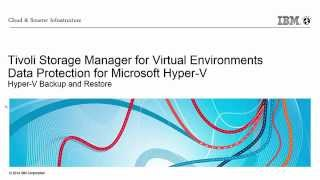Tivoli Storage Manager - Data Protection for Hyper-V
