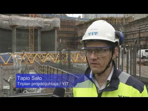YIT:n Triplan työmaalla betonin lujuus varmistetaaan sadoin koekappalein