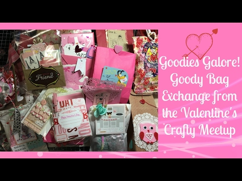 Goody Bags Galore from the Valentine Crafty Meetup