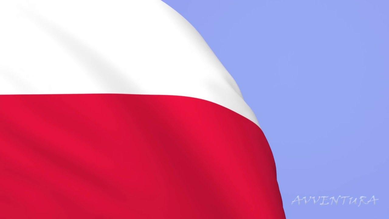 Flaga Polski Animacja MAYA U0026quot Mazurek D U0105browskiego U0026quot Hymn