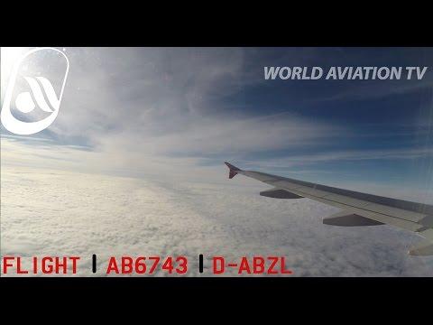 Air Berlin A320 AB6743 Full Flight Hamburg-Düsseldorf  [HD]