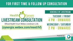 22 April 2020   Health Forum @ LIVESTREAM CONSULTATION