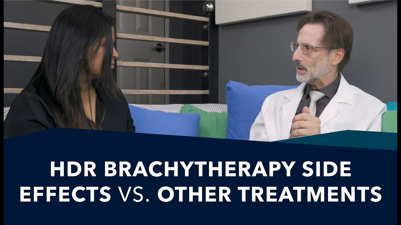 HDR Brachytherapy Side Effects vs. Other Treatments | Ask a Prostate Expert, Dr. Jeffrey Demanes #MedicalRadiology