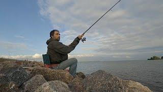 Рыбалка на дамбе Финского залива 28 июля 2015