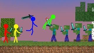 Stickman VS Minecraft: Zombie Apocalypse School - AVM Shorts Animation