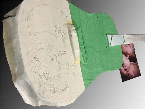 Airbrushing an acoustic guitar | Creating your image template