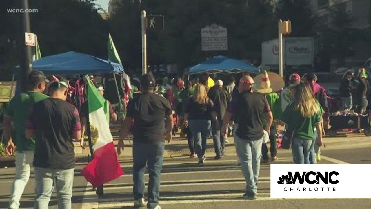 Soccer in the Queen City: Fans flood into Uptown ahead of Mexico ...