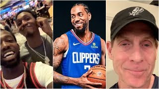 Patrick Beverley, Lou Williams & Skip Bayless react to Kawhi joining the Clippers
