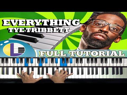 🎵 EVERYTHING to me Tye Tribbett Piano Tutorial: Tye Tribbett Piano Tutorial (gospel piano lessons)