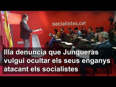 Illa denuncia que Junqueras vulgui ocultar els seus enganys atacant els socialistes