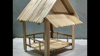 #07 Cara Membuat Gubuk Sederhana Dari Stik Es Krim - Tutorial DIY