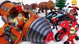Villains, Dinosaurs appeared on transform drill machine! Disney the Incredibles 2! Go! - DuDuPopTOY