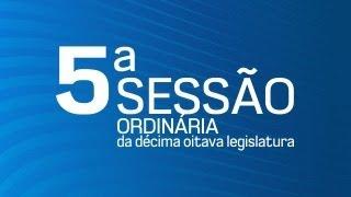 5ª Sessão Ordinária da Décima Oitava Legislatura - TV CÂMARA ITANHAÉM
