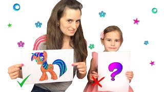ЧЕЛЛЕНДЖ 3 МАРКЕРА с МАМОЙ / 3 MARKER CHALLENGE Алина против мамы KIDS EDITION Детская версия