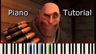 [Heavy's Pizza Song] Piano Tutorial