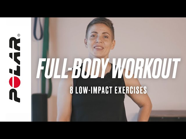 Full-Body Home Workout (Follow Along) – 8 Low Impact Exercises (No Jumping) | Polar