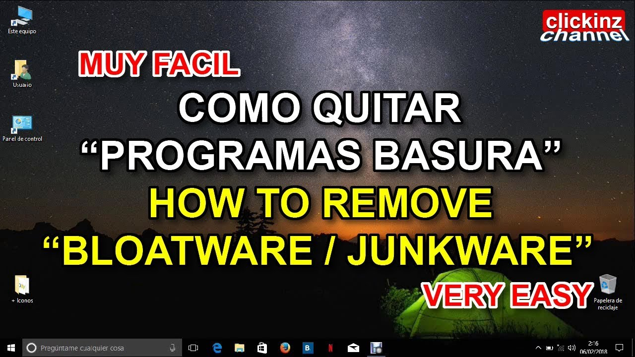 Remove Bloatware, Junkware, Crapware Very Easy  Uninstall junkware from  ACER computers Windows 10