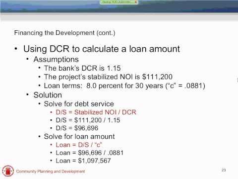 Housing Development Finance Concepts Webinar - 4/20/11