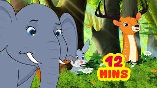 Smart Elephant Katha | Telugu Stories for Children | Infobells