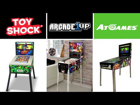 Les flippers virtuels grand public d' AtGames - Toyshock et Arcade1Up from Samuel Flippers Passion