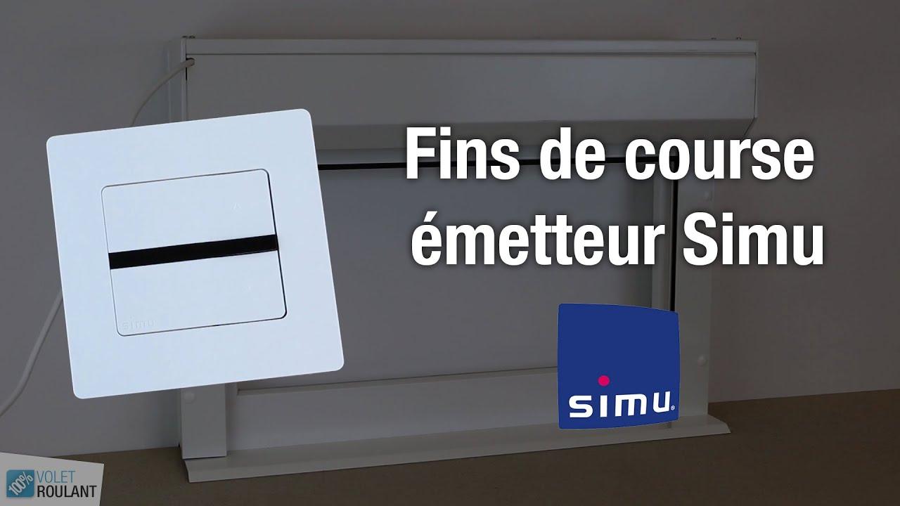 Reglages Des Fins De Course Pour Un Moteur Simu Et Son Emetteur 100 Volet Roulant Youtube