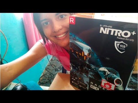 Unboxing AMD Radeon RX 570 4GB Sapphire NITRO+