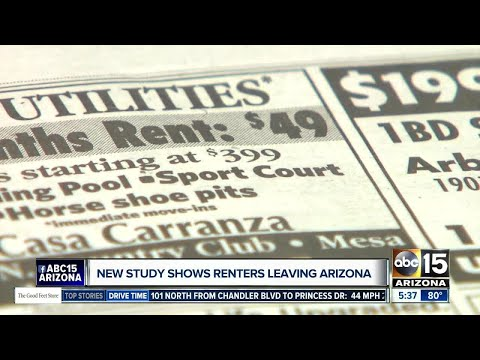 Study: Phoenix renters leaving the state, however renter population remains high